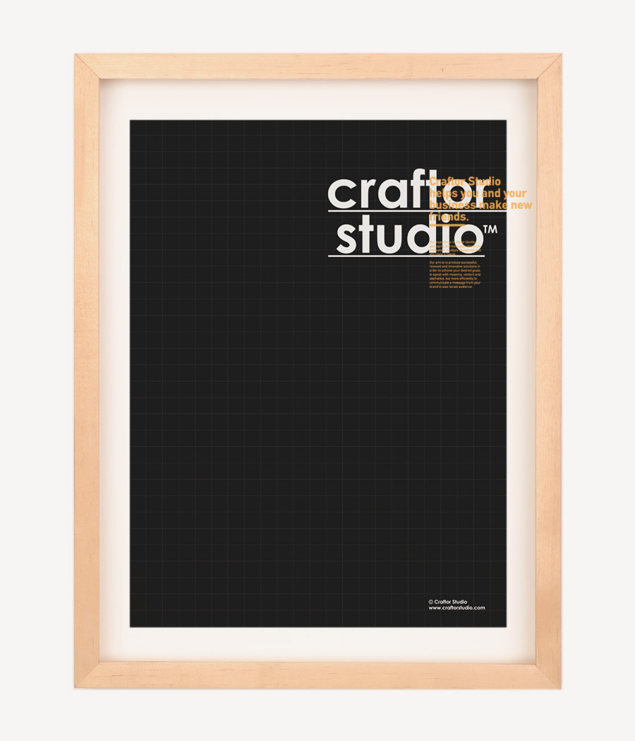 3 color poster designs - Promotional Poster Design For The Launch Of Our New Studio Two 2 And Three 3 Color Scheme Digital Prints Using Craftor Studio Typographic Trademark